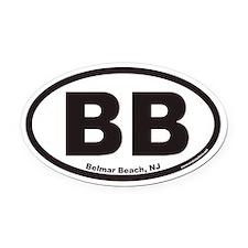 Belmar Beach BB Euro Oval Car Magnet