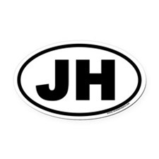 Jackson Hole, WY Oval Car Magnet (v3)