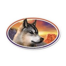 Desert Wolf I car bumper Oval Car Magnet decal (Ov