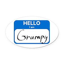 Grumpy Oval Car Magnet