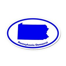 Pennsylvania BLUE STATE Oval Car Magnet