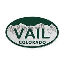 Vail Colo License Plate Oval Car Magnet