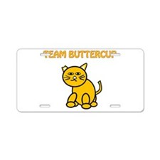 Team Buttercup Aluminum License Plate