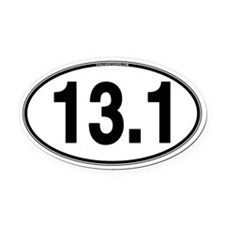 13.1 Euro Oval Car Magnet (Oval)