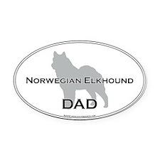 Norwegian Elkhound DAD Oval Car Magnet