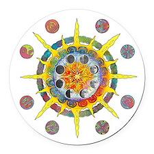 Celtic Stargate Round Car Magnet