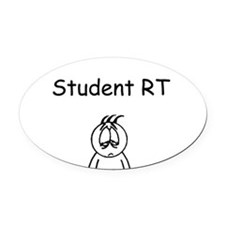 Sleepy Student RT Oval Car Magnet