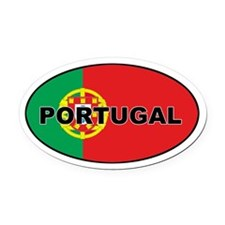 Portugal (PRT) Flag Oval Car Magnet