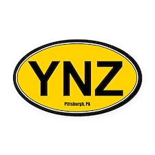 YNZ Oval Car Magnet - Gold