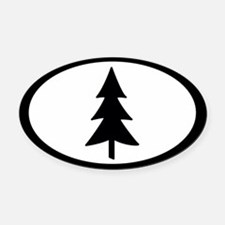 Tree Oval Car Magnet
