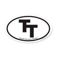 Temple Terrace TT Euro Oval Car Magnet