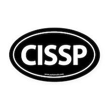 CISSP Euro Style Auto Oval Car Magnet -Black