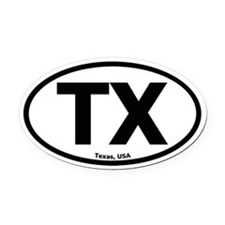 Texas Oval Car Magnet