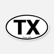Texas Oval Car Magnet