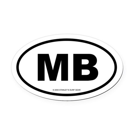 SURFCITY EURO MB Oval Car Magnet