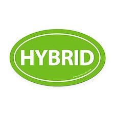 Hybrid Bumper Oval Car Magnet -Calypso Green