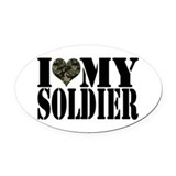 Heart army Oval Car Magnets