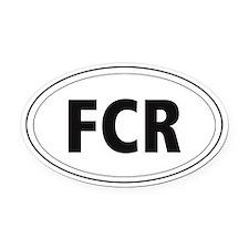 Flat Coated Retriever Oval Car Magnet