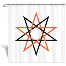Interwoven Pentagrams Shower Curtain