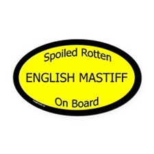 Spoiled English Mastiff On Board ticker (Oval)