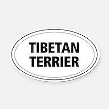 Tibetan Terrier Oval Car Magnet