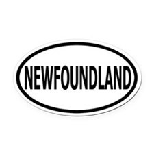 Newfoundland Oval Car Magnet