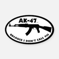 AK-47 Oval Car Magnet
