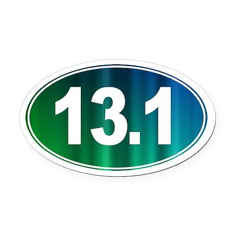 13.1 - Half Marathon - Oval Car Magnet
