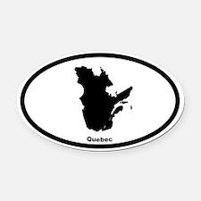 Quebec Canada Outline Oval Car Magnet