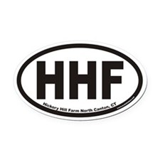 Hickory Hill Farm HHF Euro Oval Car Magnet