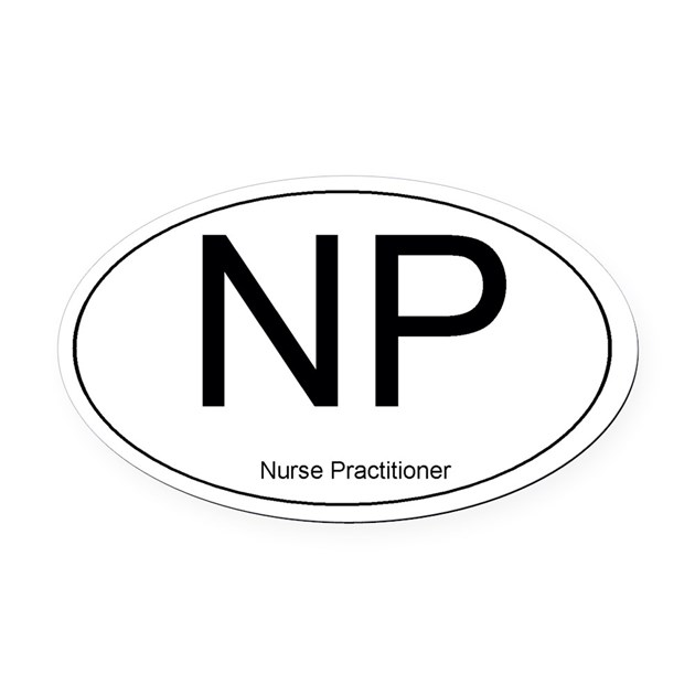 Nurse Practitioner Oval Car Magnet By Admin CP3141662