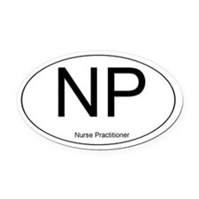 Nurse Practitioner Oval Car Magnet
