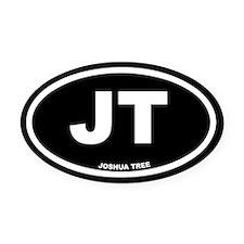 JT Joshua Tree, CA Black Euro Oval Car Magnet