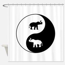 Yin Yang Elephants Shower Curtain