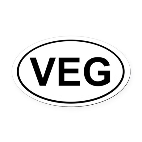 Veg Oval Car Magnet