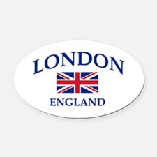 London Oval Car Magnet