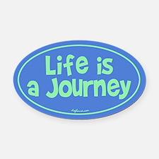 Journey Oval Car Magnet