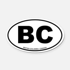 British Columbia Oval Car Magnet