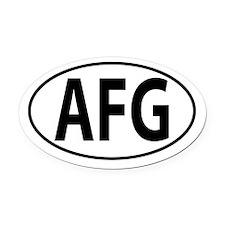 AFG - Afghanistan Oval Car Magnet