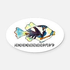 Humuhumu Fish Oval Car Magnet