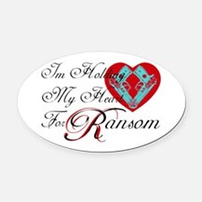 Holding Heart 4 Spunk Ransom Oval Car Magnet