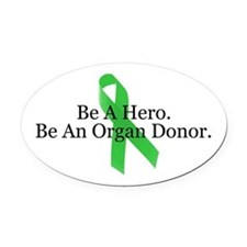 Bold Organ Donor Oval Car Magnet