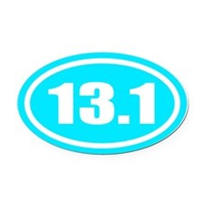 13.1 Half Marathon Oval Car Magnet
