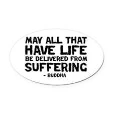 Quote - Buddha - Delivered fr Oval Car Magnet