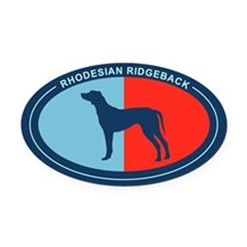 Unique Rhodesian ridgeback art Oval Car Magnet