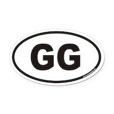 GG Euro Oval Car Magnet