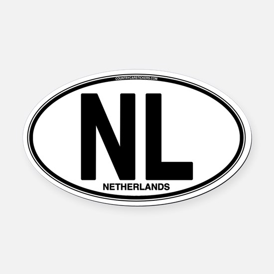 Netherlands Euro Oval (plain) Oval Car Magnet