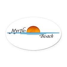 Myrtle Beach Sunset Oval Car Magnet