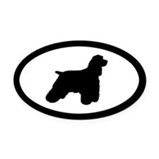 Cocker Spaniel Oval Car Magnet