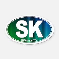 Siesta Key, FL - Oval Car Magnet